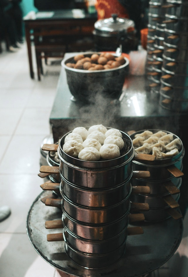 Dim sum commercial steamer